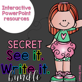 See it. Write it. Secret Words Bundle