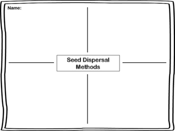 Seed Dispersal Graphic Organizer