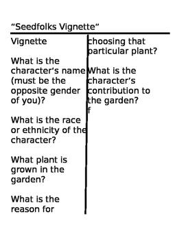 Seedfolks Cornell notes on vignettes