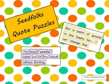 Seedfolks Quote Puzzles