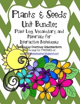 Plants & Seeds Unit-Activities, Flipbooks, Recording Log,