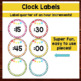 Seeing Spots - Clock Labels