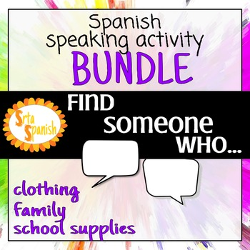 Find Someone Who... BUNDLE- Family, School supplies,Clothing