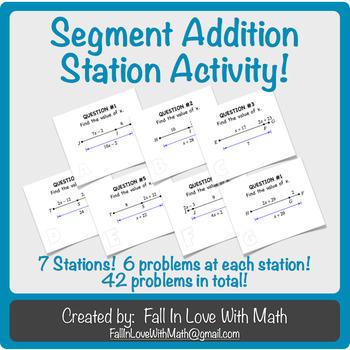 Segment Addition Postulate Station Activity