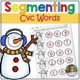 Segmenting and Blending CvC Words!  Easy Prep Worksheets