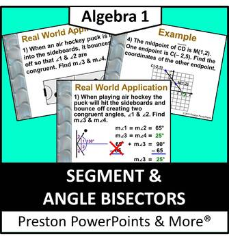 Segment and Angle Bisectors in a PowerPoint Presentation