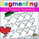 Valentine's Day cvc Words Segmenting Worksheets February