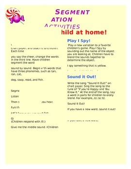 Segmentation Activities for Parents