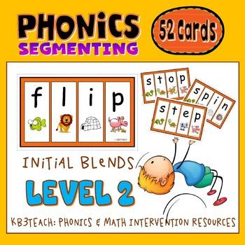 Segmenting & Phonemic Awareness Cards Level 2A (Initial Co