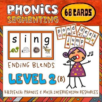 Segmenting & Phonemic Awareness Cards Level 2B (Ending Con