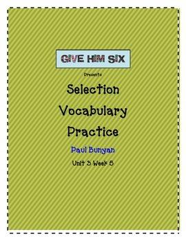 Selection Vocabulary Paul Bunyan
