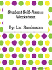 Self-Assess Smiley Face Worksheets
