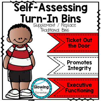 Self-Assessing Turn-In Bins to Build Metacognition