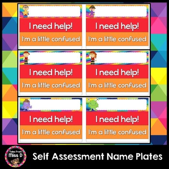 Self Assessment Name Plates