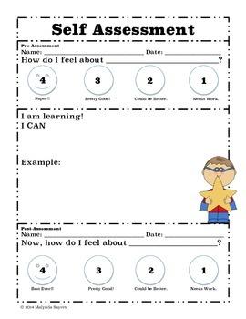 Self Assessment Printable