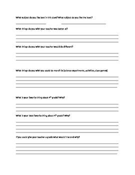 Self- Assessment for teachers