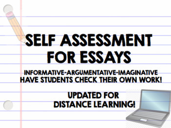 Self Assessments for Essays