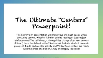 Self-Changing Centers Powerpoint