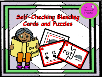 Self-Checking Blending Cards and Puzzles