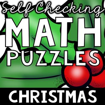 Self Checking Christmas (and More!) Math Puzzles