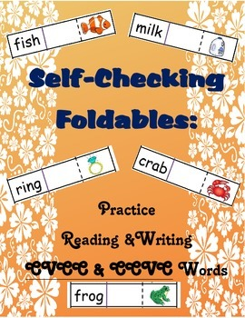 Self-Checking Foldables: Practice Reading & Writing CVCC/C