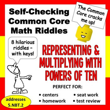 Self-Checking Math Riddles - representing & multiplying wi