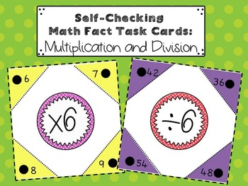 Self-Checking Multiplication and Division Math Fact Task C