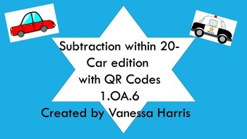 Self-Checking Subtraction within 20 with QR Codes- Paid