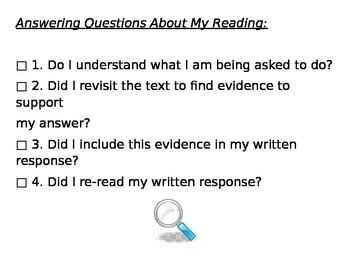Self Checklist for Answering Questions