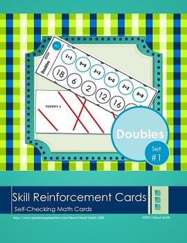 Self Correcting Math Skill Reinforcement Cards, Set #1: Ad