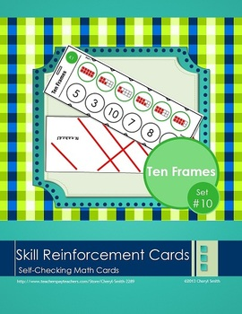 Self Correcting Math Skill Reinforcement Cards, Set #10: T