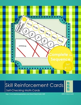 Self Correcting Math Skill Reinforcement Cards, Set #11: C