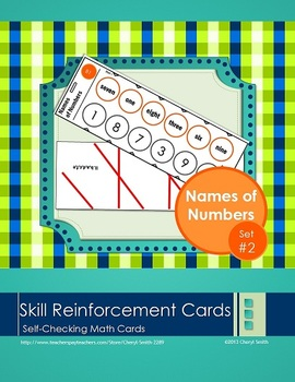 Self Correcting Math Skill Reinforcement Cards, Set #2: Na