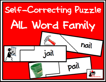 Self Correcting Puzzle - AIL Word Family Words