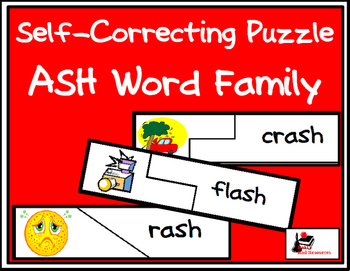 Self Correcting Puzzle - ASH Word Family Words