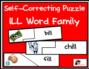 Self Correcting Puzzle - ILL Word Family Words