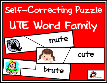 Self Correcting Puzzle - UTE Word Family Words