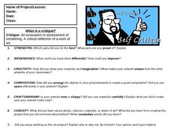 Self-Critique Worksheet