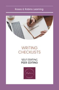 Self-Edit and Peer-Edit Checklist