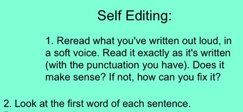 Self-Editing Helps