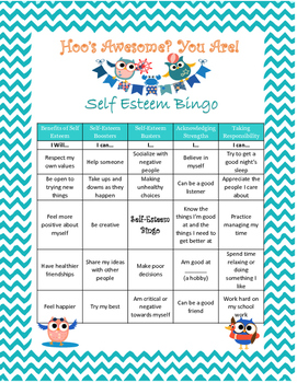 Self-Esteem Bingo Game