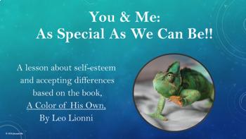 """Self-Esteem Friendship Lesson """"A Color of His Own"""" PBIS Ch"""