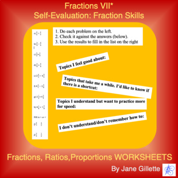 Self-Evaluation: Fraction Addition, Subtraction, Multiplic