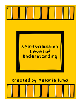 Self-Evaluation: Level of Understanding