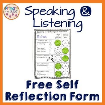 Self Reflection for Speaking & Listening