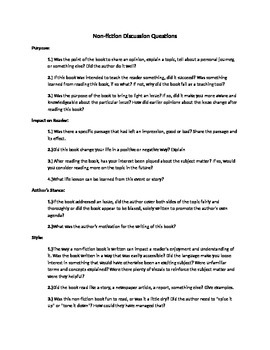 Self Selected Reading Questions and Notes