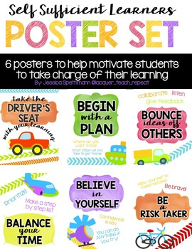Self Sufficient Learners - Poster Set in WHITE