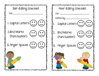 Self and Peer Editing Checklist