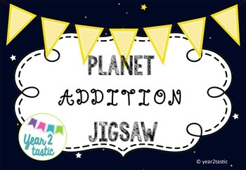 Self-checking Addition Jigsaw Space Planets {year2tastic}