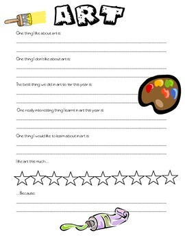 Self evaluations - all learning areas